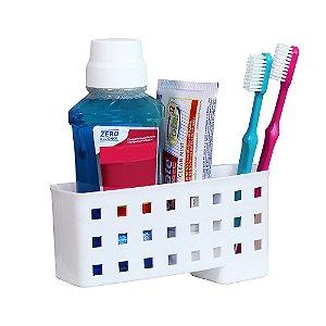 Porta escovas e creme dental
