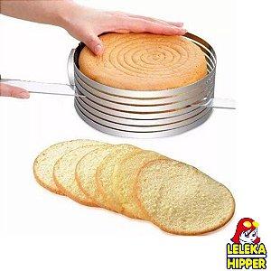 Aro cortador de camadas para bolo redondo