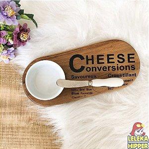 Tabua para queijo com bowl em cerâmica