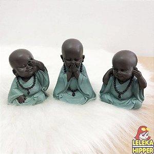 Trio de Budas baby decorativo