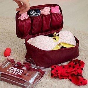 Bolsa porta lingerie para viagem