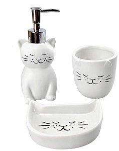 Jogo para banheiro gato