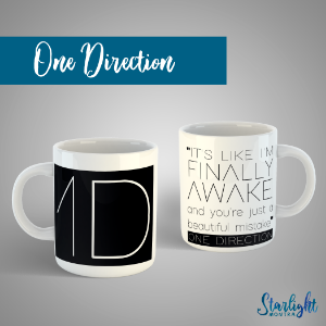 Caneca | One Direction + Marcador de Brinde
