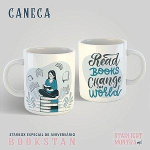 "Caneca Literária ""Read books change the world"""