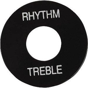 PLACA TREBLE/ RHYTHM GIBSON PRWA 020-PRETA COM PRINT BRANCO