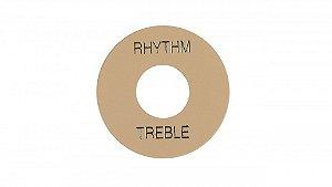 PLACA TREBLE/RHYTHM GIBSON PRWA 030-CREME COM PRINT DOURADO