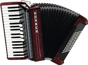 Acordeao Modelo Amica III 72 Vermelho com Case - HOHNER