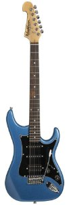 Guitarra Washburn S2HMBL azul, capta. H/S/S headstock inver.