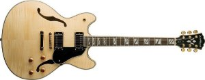 Guitarra semi acustica Washburn com case HB35N natural