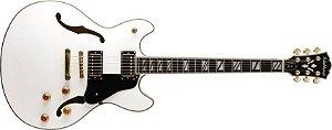 Guitarra semi acustica branca c/case - HB35WH - WASHBURN