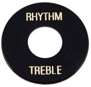 PLACA TREBLE/ RHYTHM GIBSON PRWA 010 - PRETA PRINT DOURADO