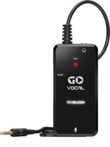 INTERFACE ÁUDIO GRAVADOR VOCAL PORTÁTIL TC HELICON GO VOCAL