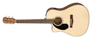 VIOLAO FENDER CD60 SCE CANHOTO DREADNOUGHT NATURAL
