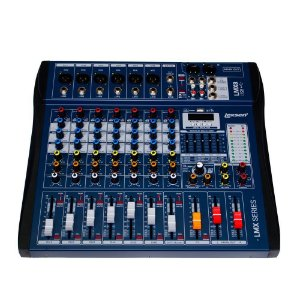 MESA DE SOM 8 CANAIS LEXSEN LMX8USB COM INTERFACE DE AUDIO