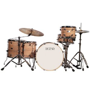 Bateria com 5 pecas Legend - One Series 20'' Walnut - cor walnut