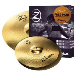 KIT DE PRATOS ZILDJIAN PLANET Z - PLZ1418 -14HH+18CRASH/RIDE