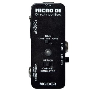 PEDAL PARA GUITARRA MOOER - MICRO DI - DIRECT INPUT BOX
