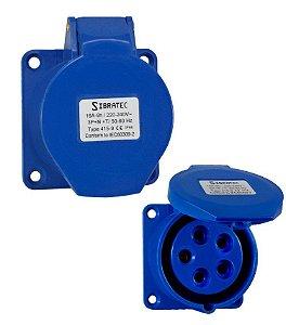 TOMADA DE EMBUTIR 3P+N+T 9H 220Vca/16A Azul IP44