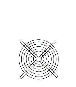 GRADE P/ VENTILADOR 15x15cm
