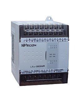 CLP Wecon LX2E-0806-MR-D2 - 8 Entradas Digitais + 6 Saídas a relé - Alimentação 24Vcc - Não Aceita Expansão