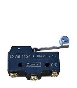 Chave fim de curso com Haste e Roldana LXW5-11G1 com 1 Contato Reversível e Corpo Plástico