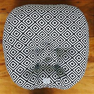 Almofada Arte Criada Losangos Preto e Branco