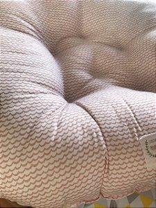 Almofada Arte Criada Ondas Rosa