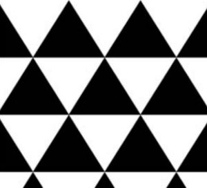 Almofada Arte Criada Triângulo Preto e Branco