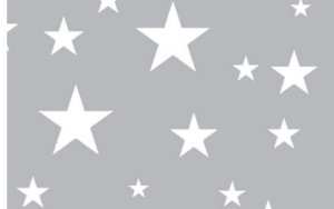 Almofada Arte Criada Estrelas Cinza