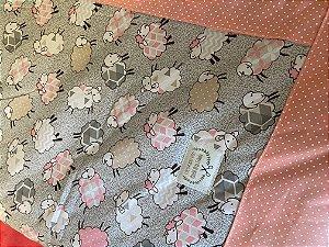 Tapete Arte Criada Ovelhas Rosa