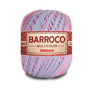 Barbante Barroco Multicolor 6 Fios 200g Cor 9296