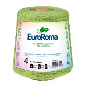Barbante Euroroma Colorido 4 Fios 600g Cor 801