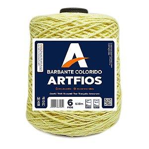 Barbante Artfios 6 Fios 600g Cor Amarelo Bebê