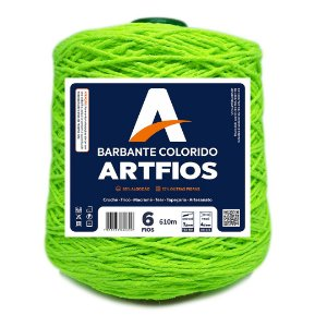 Barbante Artfios 6 Fios 600g Cor Verde Neon