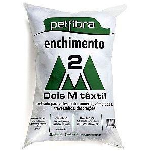 Enchimento Siliconado Pet Fibra 100% Poliéster 2M 500g