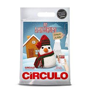 Kit Amigurumi Coleção Natal Cor 03 - Boneco de Neve