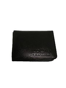 Carteira em couro legítimo porta cartão e documentos