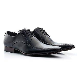 Sapato social  Oxford cromo masculino couro