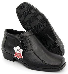 Sapato anatômico comfort anti stress de couro estilo bota