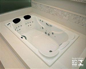 Banheira para Casal Insignya Exclusiva com Hidro 185x120x45 cm