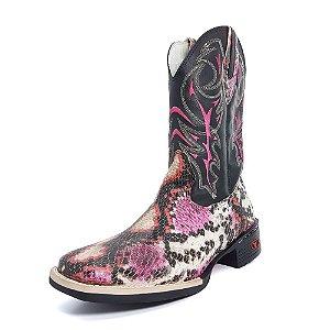 Bota Texana Feminina Pink