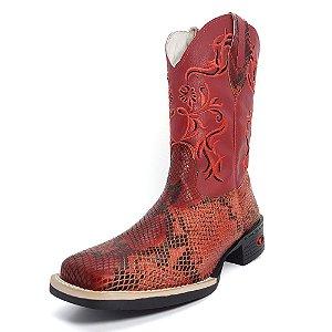 Bota Texana Feminina Vermelho
