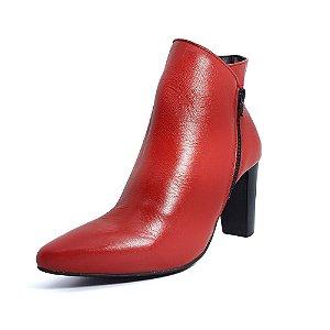 Bota Feminina Cano Curto Vermelha