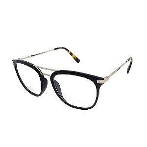 Óculos De Grau Colcci Mag RX Preto Dourado