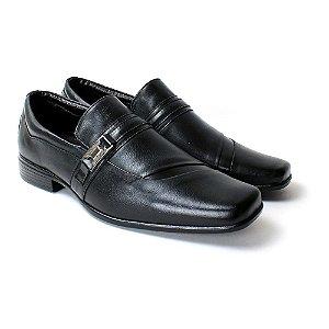 Sapato Confort Zanuetto Preto Couro Liso