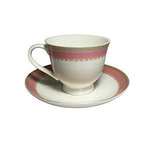 Jogo 6 Xicaras De Porcelana Com Pires Inglaterra 170ml