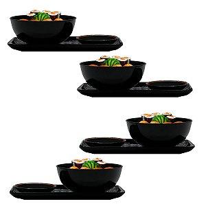 Kit Jogo Jantar Japonês Oriental Sushi 4 Pessoas 12 Peças