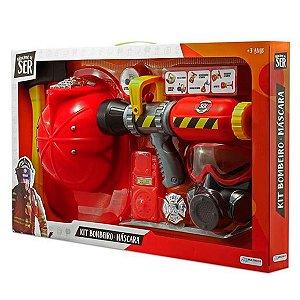 Brincando De Ser - Kit Bombeiro Máscara De Oxigênio BR962