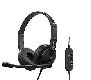 Fone de Ouvido Com Microfone USB Corporativo Ktrok KT-3033