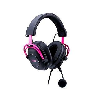 Headset Fone Gamer Ultralight Dazz USB 2.0 Rosa 62000068